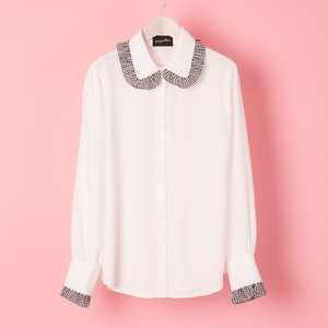 GHINGAM FRILL COLLAR  BLOUSE (VN1711012)