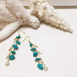 turquoise drop pierce