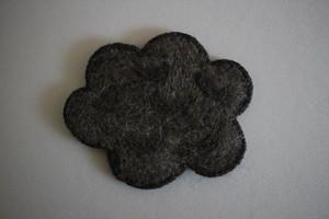 仲田梅佳|羊毛フェルトコースター くも 灰色