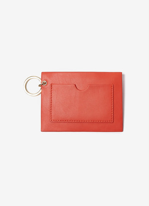 NAPPA LEATHER MINI-PURSE KEYRING
