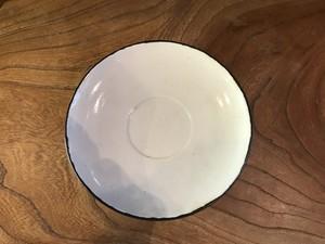 砥部焼 宮内太志 丸皿(紅茶カップソーサー)