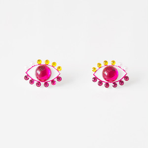 Medama Pierces / Earrings(S) -cherry pink-