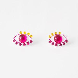 Medama Pierces / Earrings(S) -cherry pink-