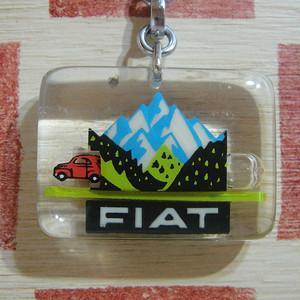 イタリア FIAT[フィアット]自動車メーカー企業広告 動くブルボンキーホルダー