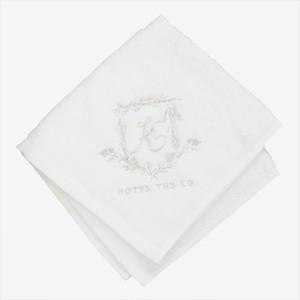 【HOTEL THE KO】プレオーガニックコットン使用ハンドタオル(今治生産タオル生地)