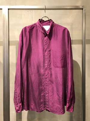 TrAnsference loose fit silk shirt - matured berry