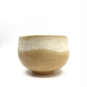 オレンジ窯変 抹茶碗