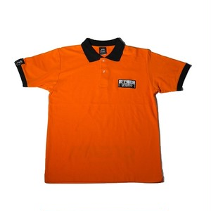 ☆ラスト1点!!☆ポロシャツ「ZONE2」(オレンジ/PO-006)