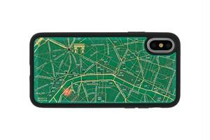 FLASH Paris回路地図 iPhoneXケース 緑【東京回路線図ピンズをプレゼント】