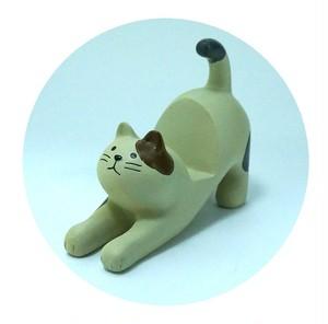 [concombre] のび猫スマホスタンド 三毛猫