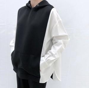 シャツドッキングパーカー【shirt docking hoodie】