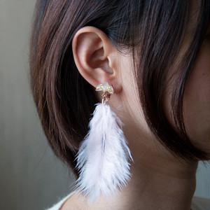 冬鳥の耳飾り[white] ピアスorイヤリング