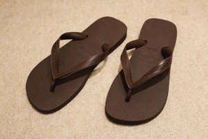 havaianas Sandals Dark Brown