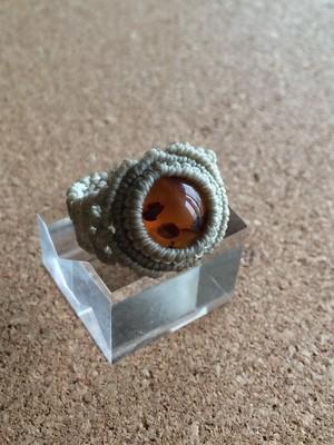 【天然石・マクラメリング】琥珀