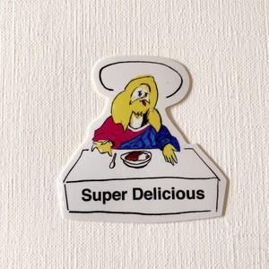 「SUPER DELICIOUS」ステッカー