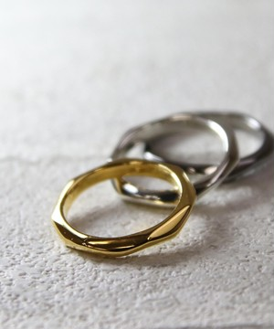 YRGV1803SVR0537【YArKA/ヤーカ】silver925 7surface ring [nanaes]/シルバー925 7面デザインリング