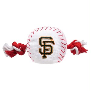 San Francisco Giants Nylon Baseball Rope Tug Toy