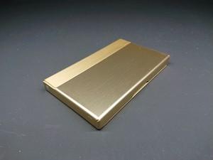 アルミニウム製名刺カードケース シャンペンゴールド色