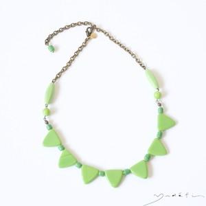 yn014_ヴィンテージ・ネックレス<Green>