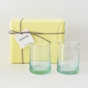 モロッコガラス ギフトセット<タンブラーM×2>