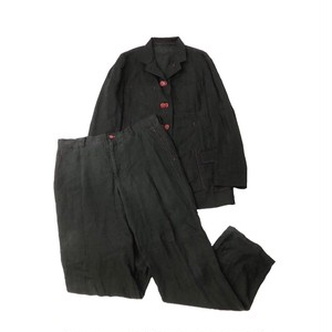 YOHJIYAMAMOTO POURHOMME LINEN 3WAY JACKET SET-UP