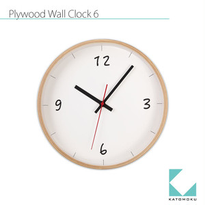 KATOMOKU plywood wall clock 6 km-52N