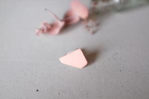 UMO陶器イヤリング ピンク