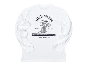 【High on life long sleeve】/ white