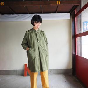タイプライタークロス アトリエシャツ八分袖  01S18 サイズ2