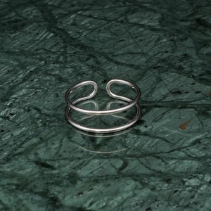 S925 DOUBLE LAYERED RING