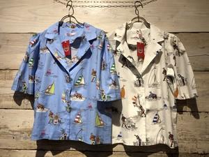 ヨット柄★半袖シャツ