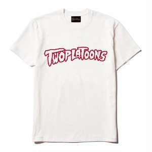 TWOPLATOONS LOGO T / WHITE×RED