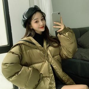 【アウター】2019秋冬韓国系清新カジュアルセーラーカラー切り替えレトロゆったりダウンコート