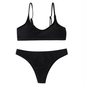 Bikini♡シンプルリブビキニ ブラック
