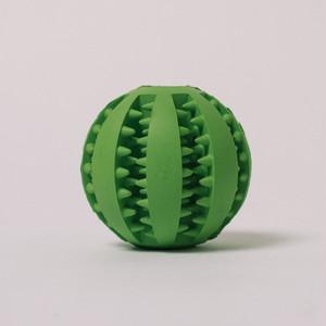 DOGGY BRO.(ドギーブロ) 天然ゴム歯磨きボール【グリーン/Sサイズ】