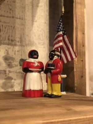 50s ビンテージ ソルト&ペッパー アメリカ USA 黒人