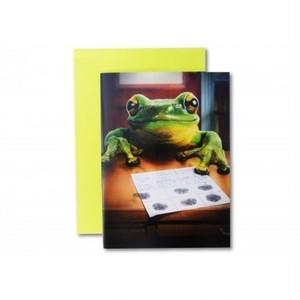 カエルイラスト バースデイカード ポップアップ「シモン」 200030BD-c1611