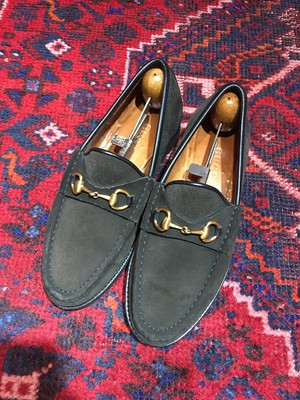 .GUCCI SUEDE LEATHER HORSE BIT LOAFER MADE IN ITALY/グッチスウェードレザーホースビットローファー 2000000046150