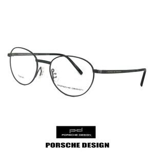 日本製 ポルシェデザイン メガネ p8306-a チタン PORSCHE DESIGN 眼鏡 porschedesign ラウンド オーバル 黒縁