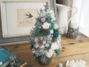 Arbre de  Noël<French chic>*クリスマスツリー*アレンジメント*プリザーブドフラワー* 花*冬の贈りもの準備*2018