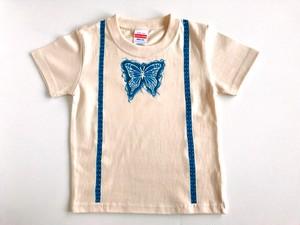 【受注制作】光るだまし絵フェイクTシャツ【蝶ネクタイ】