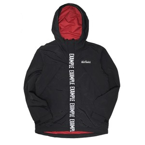 EXAMPLE X WILDTHINGS CHAMONIX NYLON JACKET /BLACKxRED