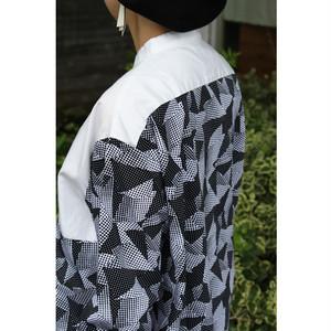 【FITH】298101 キリカエ スタンドカラーBIGシャツ