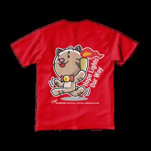 <レッドTシャツ 両面>聖火みーちゃん