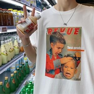 【トップス】キュート図柄かわいいシンプルカジュアルTシャツ50000012