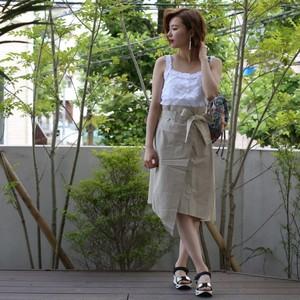 アシメトリ  ラップ スカート (2カラー)