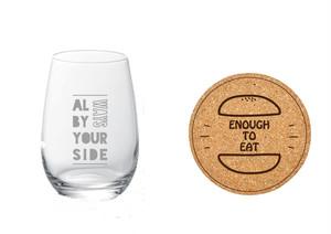 グラスとコースターのセット