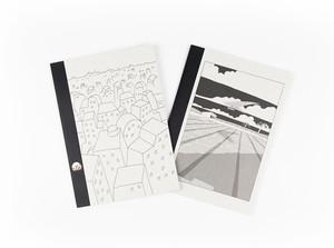 【オリジナルツバメノート2冊セット】町田洋イラストカバーA5サイズノート