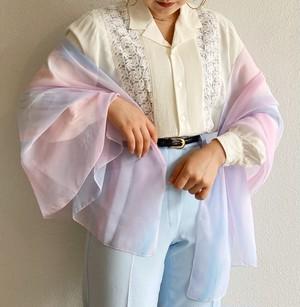 (PAL) open collar lace l/s shirt