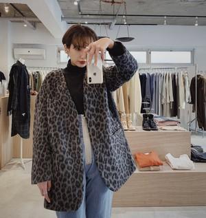 """""""meeegan"""" leopard coat"""